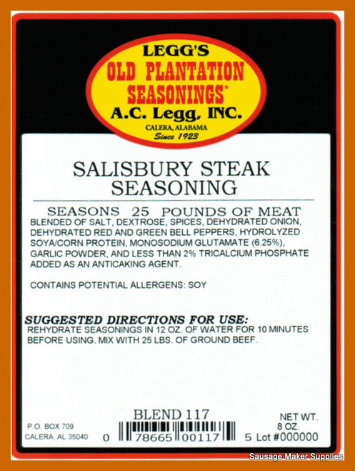 A.C. LEGGS OLD PLANTATION Salisbury Steak Blend 117