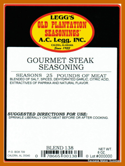 A.C. LEGG OLD PLANTATION Gourmet Steak Seasoning Blend 138
