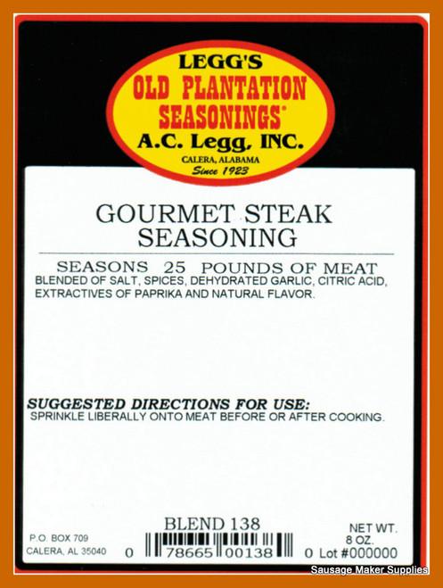 A.C. LEGG OLD PLANTATION Gourmet Steak Seasoning Blend 138