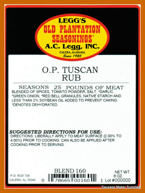 Tuscan Rub Blend 160