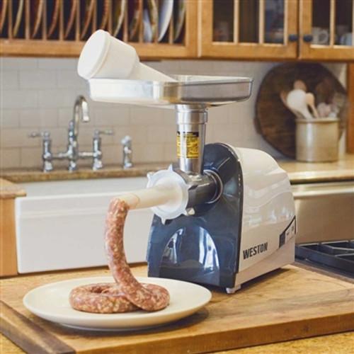 Weston #8 Heavy-Duty Electric Meat Grinder & Sausage Stuffer (575 Watt)