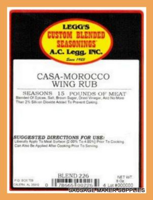 AC LEGG OLD PLANTATION CASA-MOROCCO WING RUB