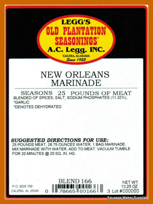 Ole Orleans Seasoning and Rub  Blend 166  A jazzy blend of whole herbs including rosemary and thyme, spices and garlic. The perfect complement for value added pork, poultry, and seafood.