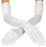 Gloves White Matte Satin