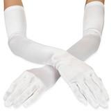 Gloves White Matte Satin