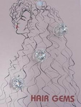 Hair Gems  Crystals And Flower - HG248