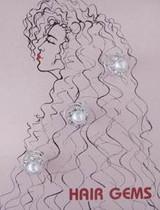 Hair Gems Crystals And Pearl - HG251