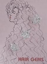 Hair Gems Star Crystals And Flower - HG249