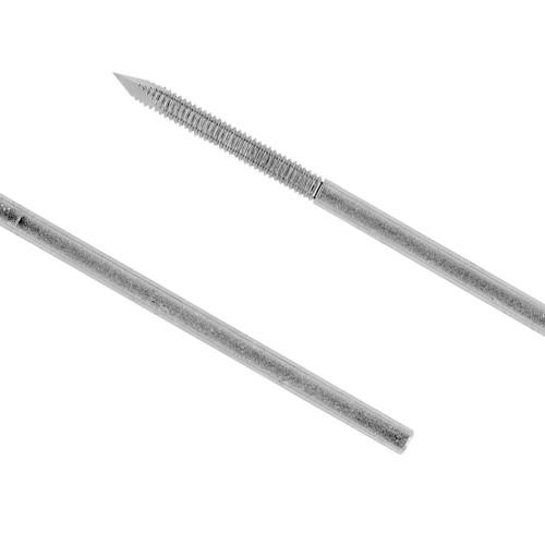 0.032 Trocar/Flat End Partially Threaded 4 inch Half Pin