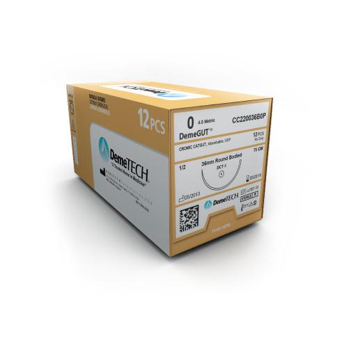 DemeTECH® DemeGUT™ Chromic Catgut - 4/0 - Taper - DSH-1