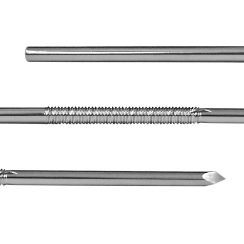 1/8 inch Centerface Fixation Pin - Positive Cortical Thread - Long