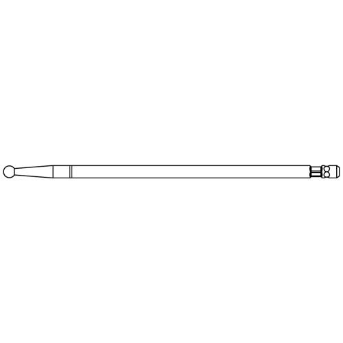 Medium Stainless Steel Round Cutting Bur - High Speed 84.5mm - 3.0mm Head