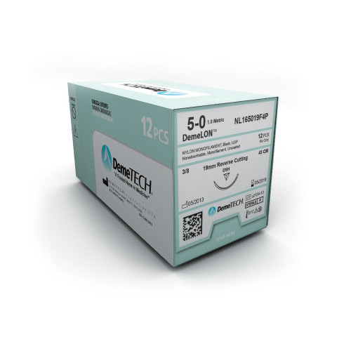 DemeTECH® DemeLON™ Nylon Monofilament Suture - 6/0 - Precision Point Reverse Cutting - DP-1 - Blue