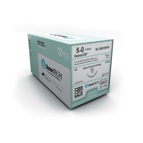 DemeTECH® DemeLON™ Nylon Monofilament Suture - 6/0 - Reverse Cutting - DC-2 - 25 CM