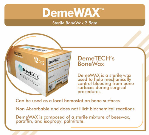 DemeTECH Bone Wax Hemostat