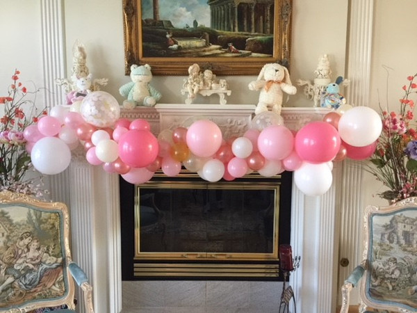 """""""Organic"""" Balloon garlands and swags by the foot or by the piece.  Customize your design with color, texture and various balloon sizes to create one of a kind balloon deocr"""