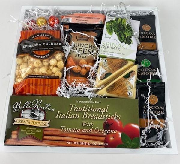 Eat, Drink and Be Thankful appropriate all year round and for the Holidays too.  Filled with snacks and drinks for guests