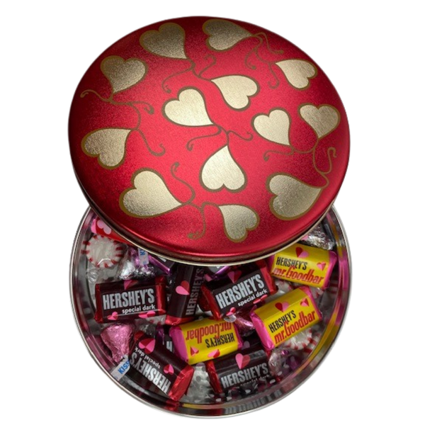 Red Heart Swirl CandyTin