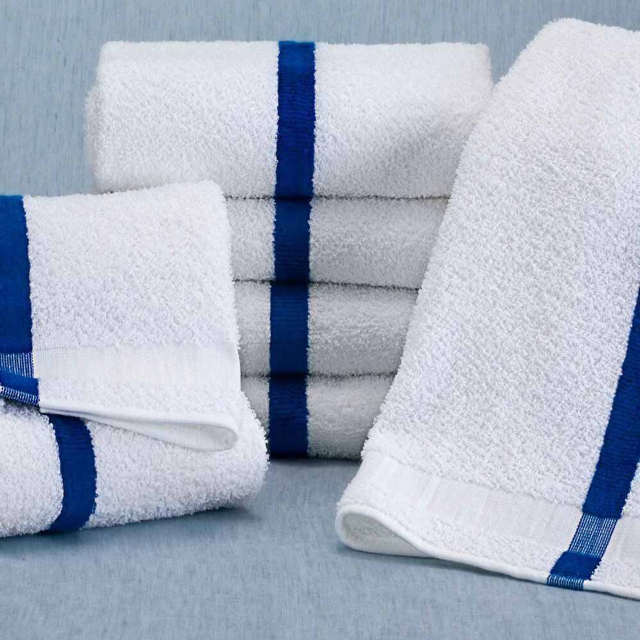 WestPoint/Martex Blue Striped Pool towel from Martex / Westpoint