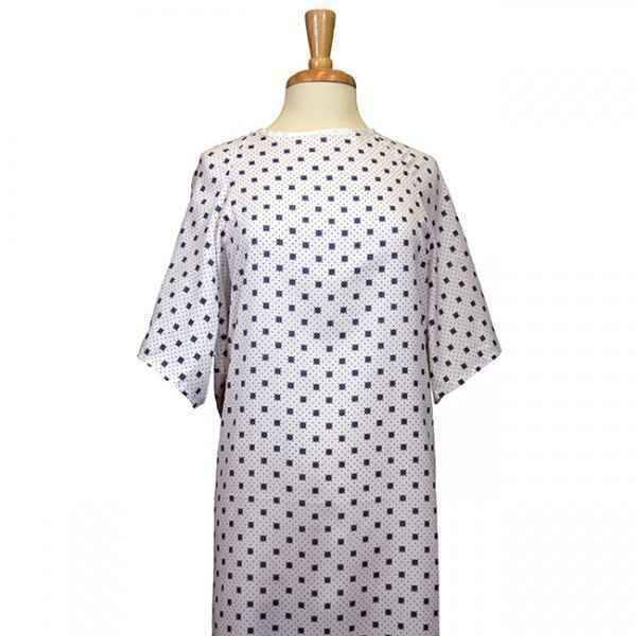 Overlap Patient Gown or Blue or Green Snow Flake Pattern or 1 DZ