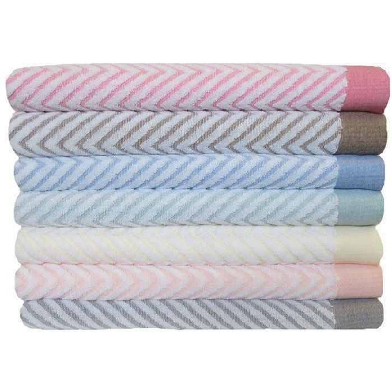 1888 Mills 1888 Mills Bath Sheets or Fibertone Chevron Jaquard Towel