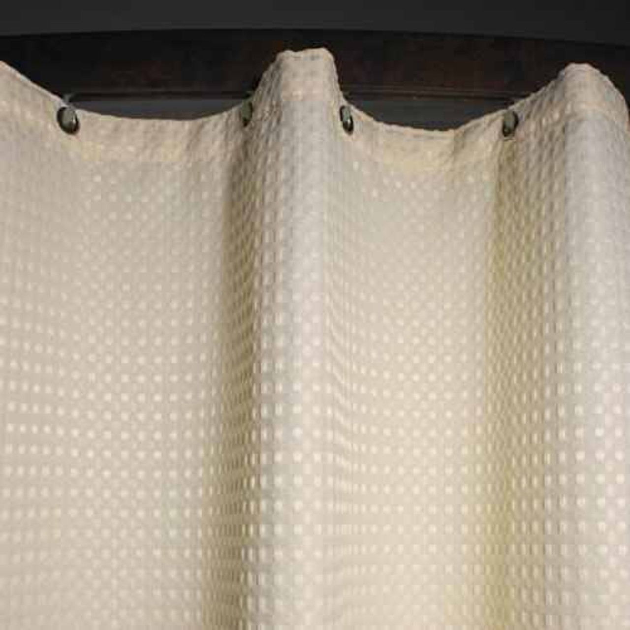 Kartri KARTRIor EXECUTIVEor WAFFLE FLAMEor RETARDANT POLYESTERor SHOWER CURTAIN W/ METAL GROMMETS PACK OF 6