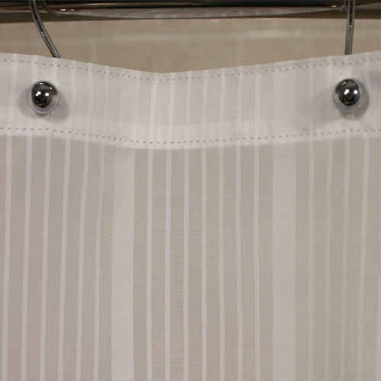 Kartri KARTRIor SUPER STRIPEor NYLON SHOWER CURTAIN W/ SEWN EYELETS PACK OF 12