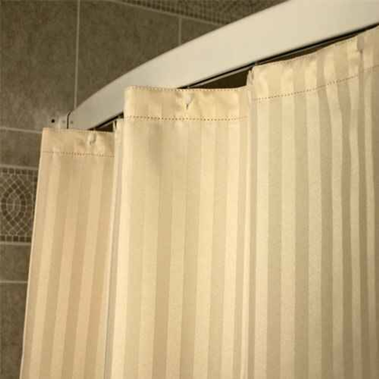 Kartri KARTRIor SATEIN WOVENor POLYESTER SHOWER CURTAIN W/ SEWN EYELETS PACK OF 12