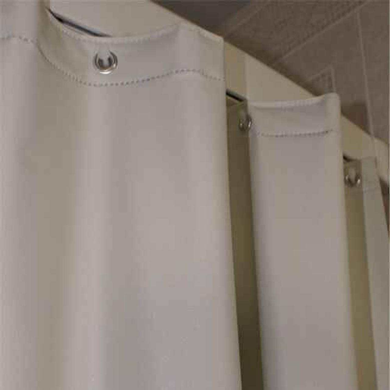 Kartri KARTRIor 8 GAUGE SAN CREPEor VINYL SHOWER CURTAIN W/ METAL GROMMETS PACK OF 12