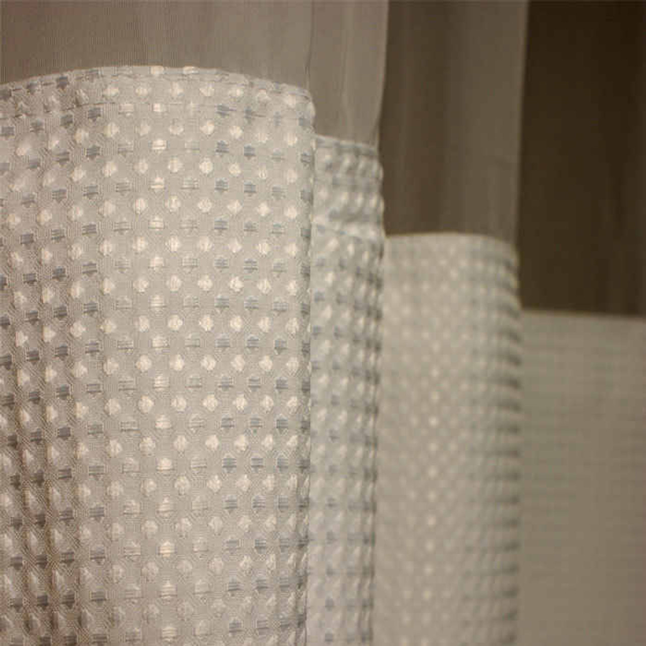 Kartri KARTRIor EMPIRE WAFFLE EZY-HANGor POLYESTER SHOWER CURTAIN W/ VOILE WINDOW and SNAP AWAY LINER 72X74 WHITE PACK OF 6