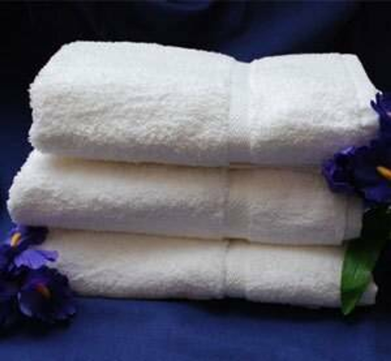 THOMASTON MILLS THOMASTON MILLS or ROYAL SUITE DOBBY WASHCLOTHS or WHITE or PACK OF 25