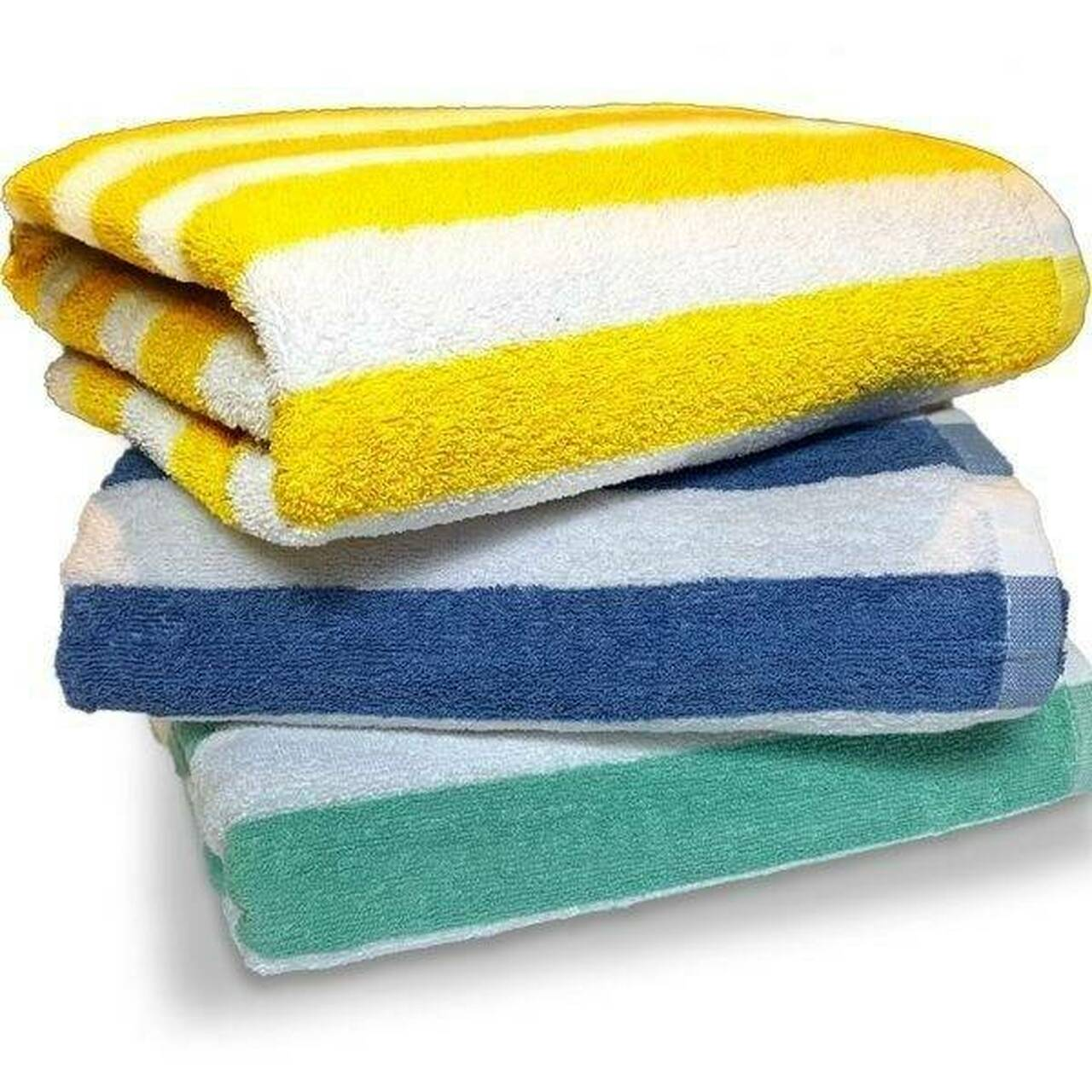THOMASTON MILLS THOMASTON MILLS or 30x70 ISLAND STRIPE POOL TOWELS