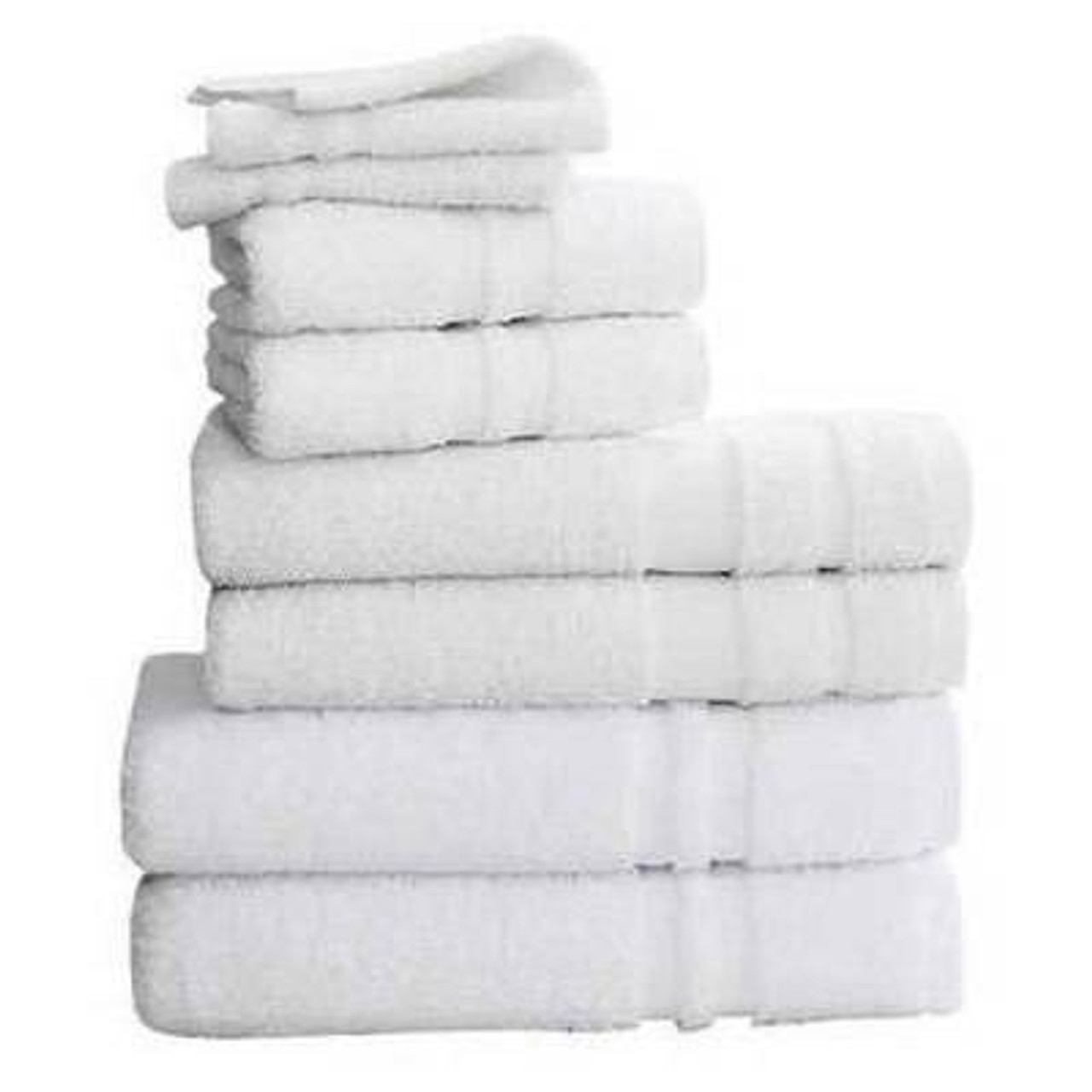 WestPoint/Martex MARTEX DOUBLE CAM BORDER BATH TOWELS or 24X54 or 12.5LBS/DZ or WHITE or PACK OF 5