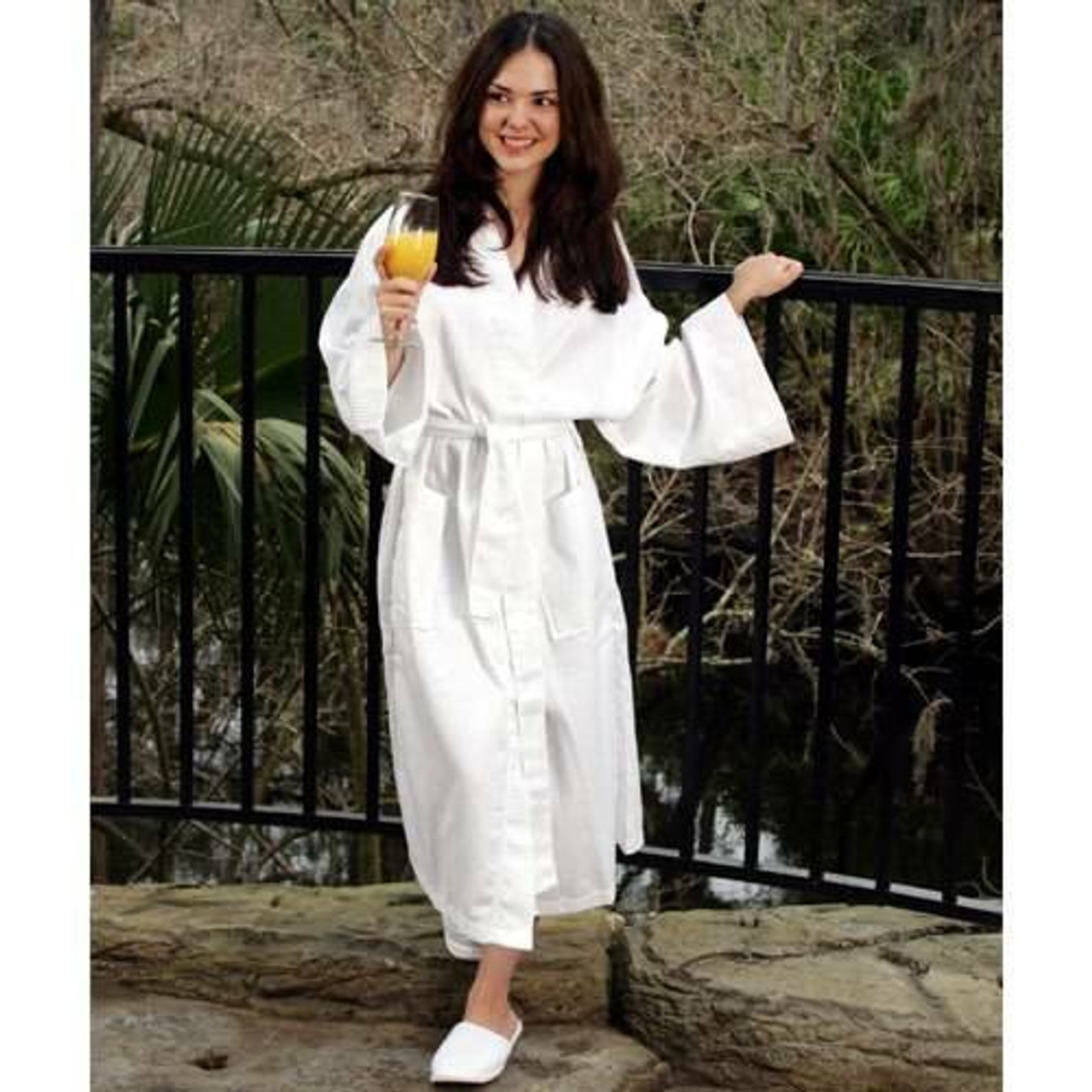 Ganesh Mills or Kimono Waffle Weave Bathrobe or Pack of 12