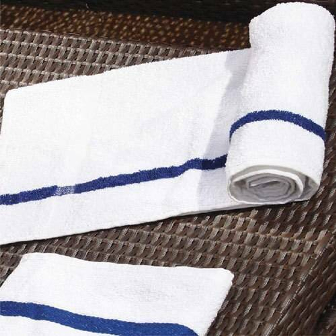 Ganesh Mills or Oxford Super Blend Ganesh Mills or Classic Blue Center Stripe Pool Towels or Pack of 5-10 DZ