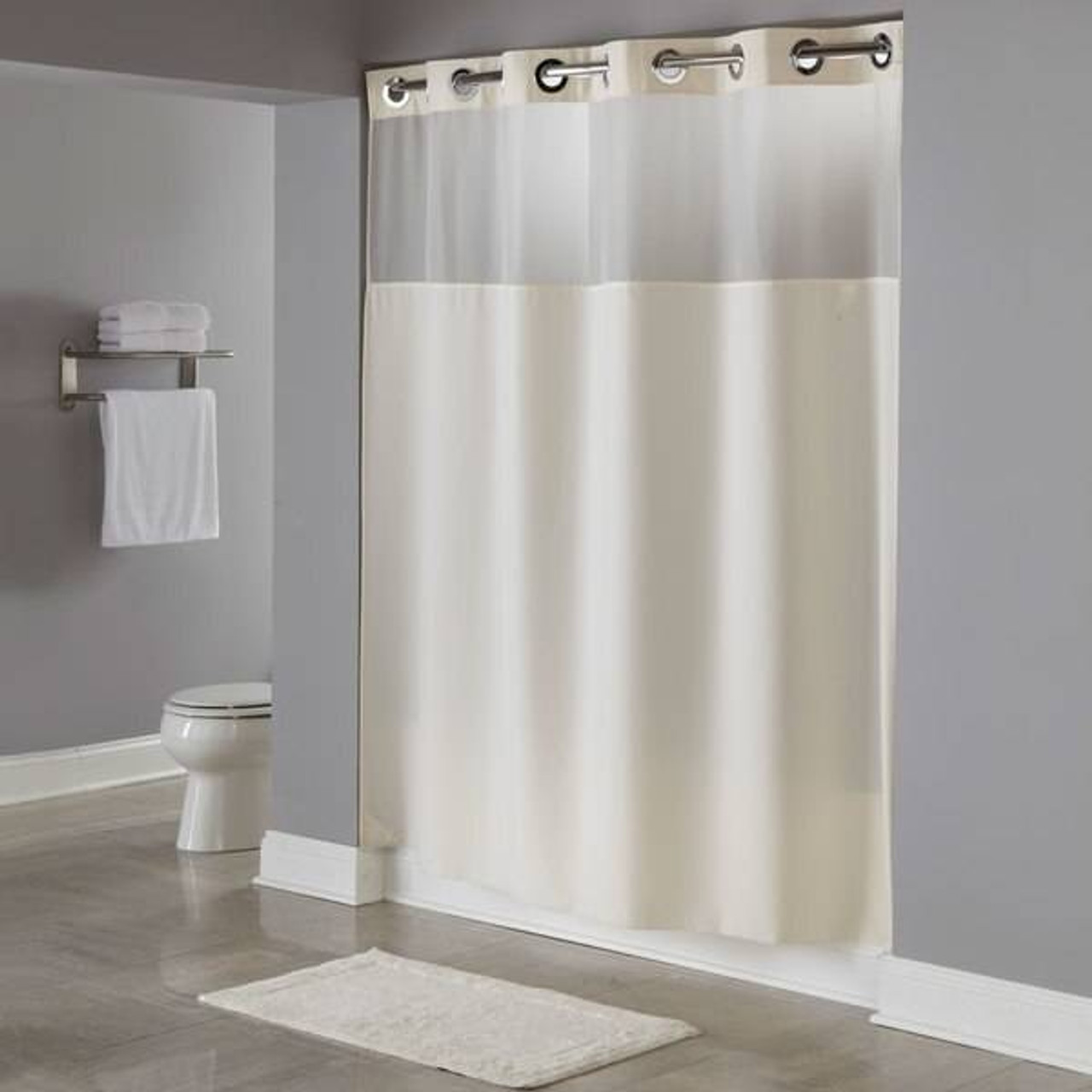 Focus Product Group Illusion or Hookless Shower Curtain or Pack of 12