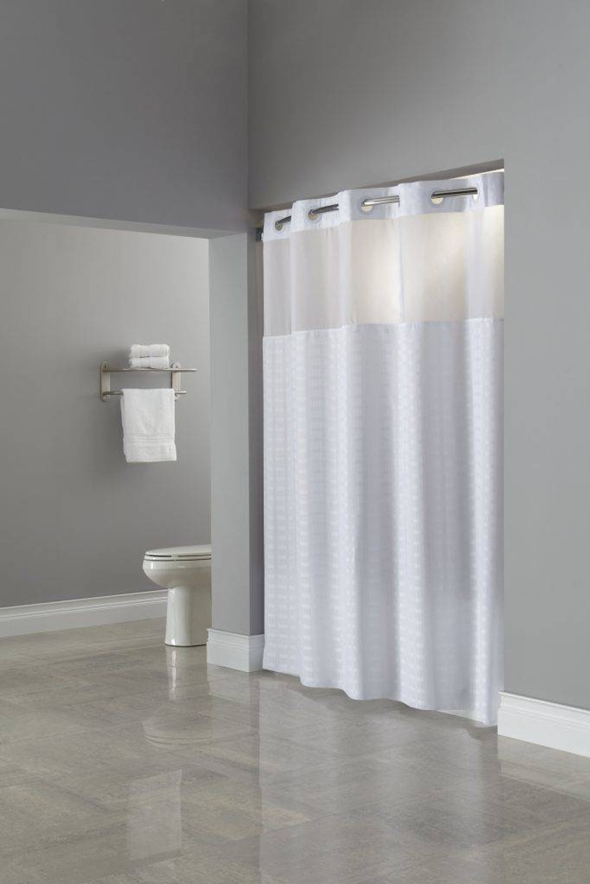 Focus Product Group Madison or Hookless or Polyester or Shower Curtain or Pack of 12