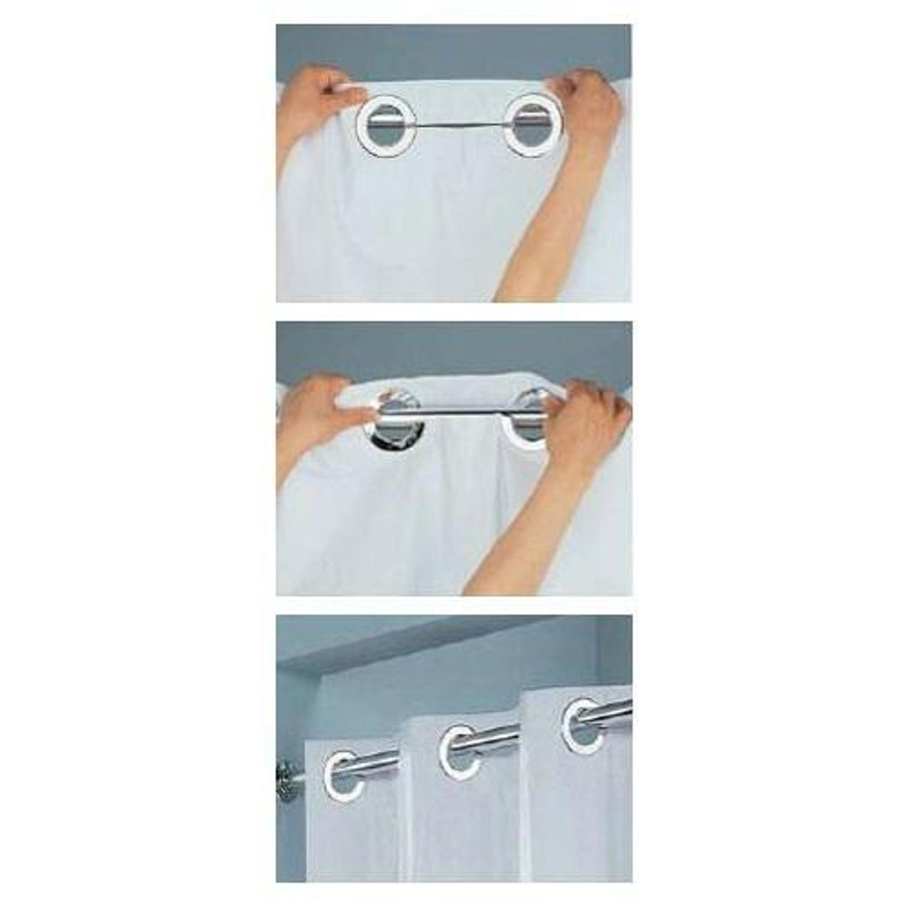 Focus Product Group FOCUS or SONOMA or WHITE WAFFLE STRIPED or HOOKLESS or POLYESTER SHOWER CURTAIN or 71X77 or PACK OF 12