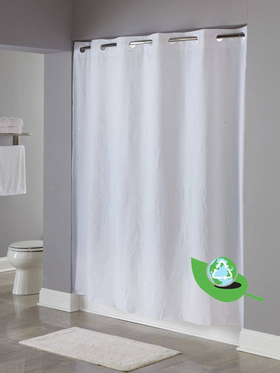 Focus Product Group Peva Hookless Shower Curtain or Pack of 12
