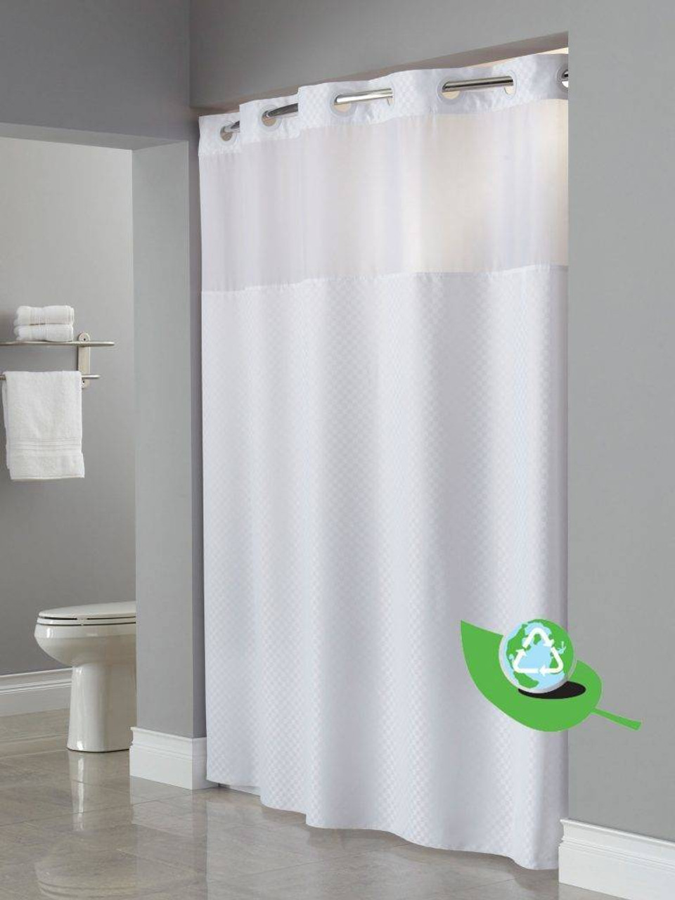 Focus Product Group Daytona One Planet or Hookless or Shower Curtain or Pack of 12