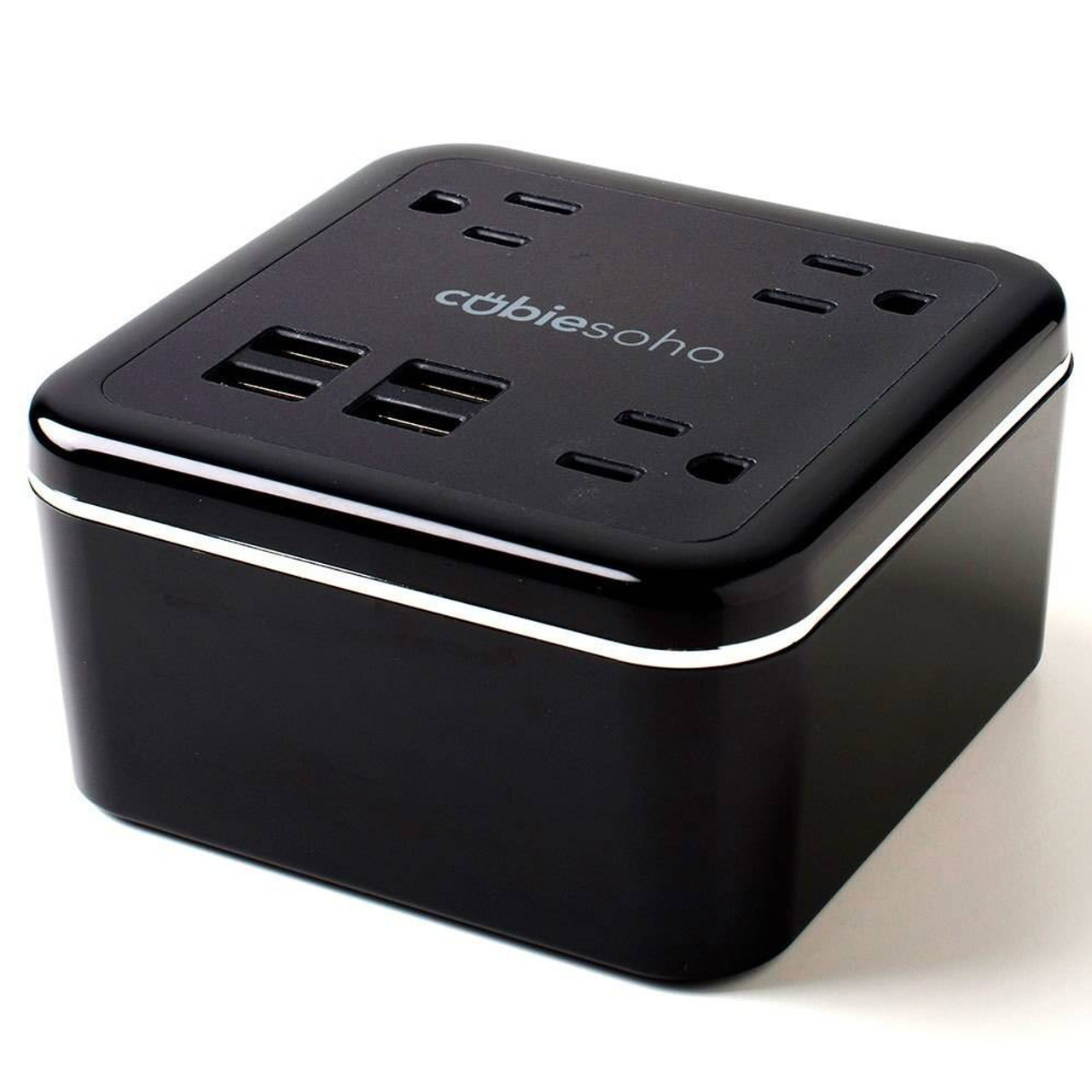 Brandstand BRANDSTAND CUBIESOHO 3 OUTLETS 4 USB CHARGING PORTS W/ PASS THROUGH PLUG