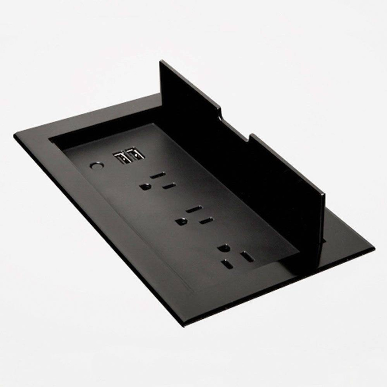 Brandstand BRANDSTAND CUBIEFLIP IN DESK POWER and CHARGING SOLUTION W/ 2 USB PORTS and 3 POWER OUTLETS and FACEPLATE BLACK
