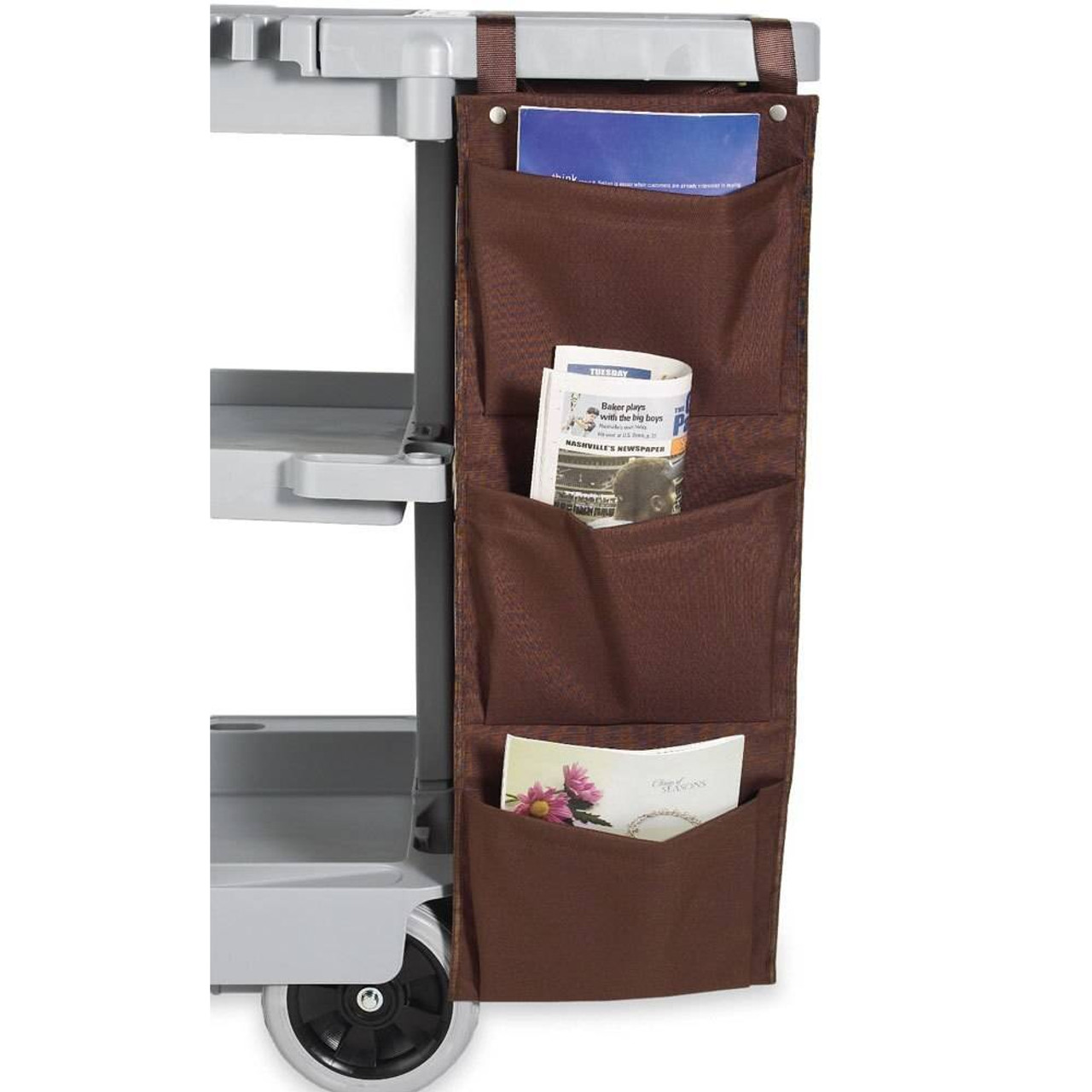 HOSPITALITY 1 SOURCE HOSPITALITY 1 SOURCE or 3 POCKET or X DUTY HOUSEKEEPING or CADDY BAGS or 12X33 or BROWN or 5 PER CASE