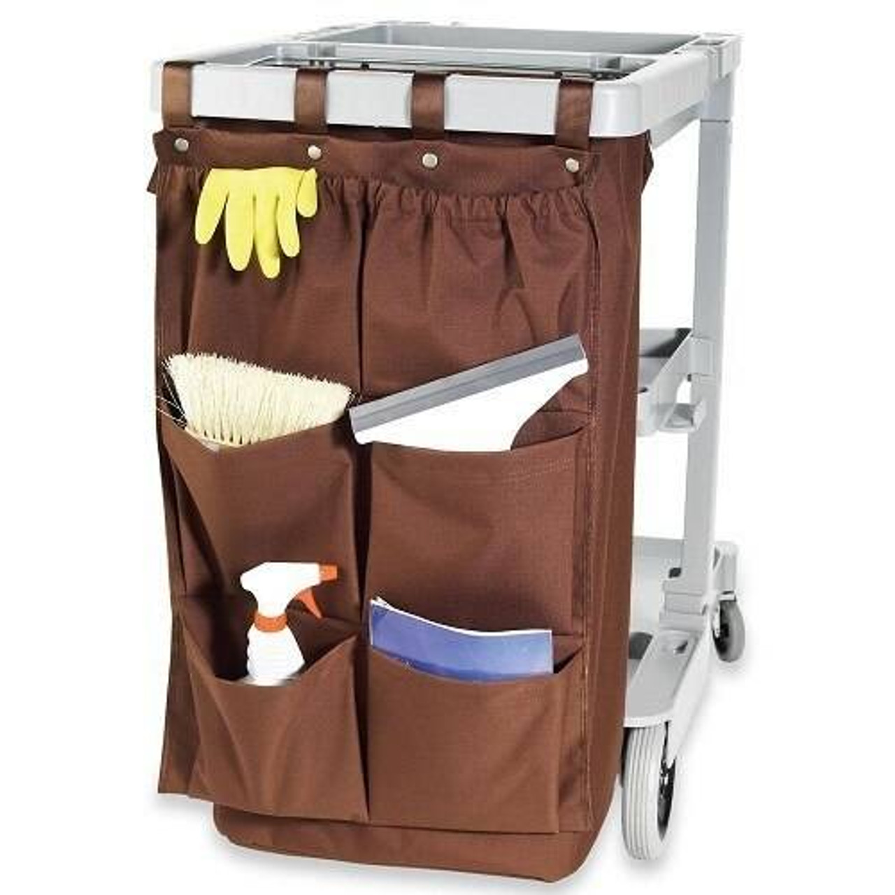 HOSPITALITY 1 SOURCE HOSPITALITY 1 SOURCE or 6 POCKET or X DUTY HOUSEKEEPING or CADDY BAGS or 19x32 or BROWN or 5 PER CASE