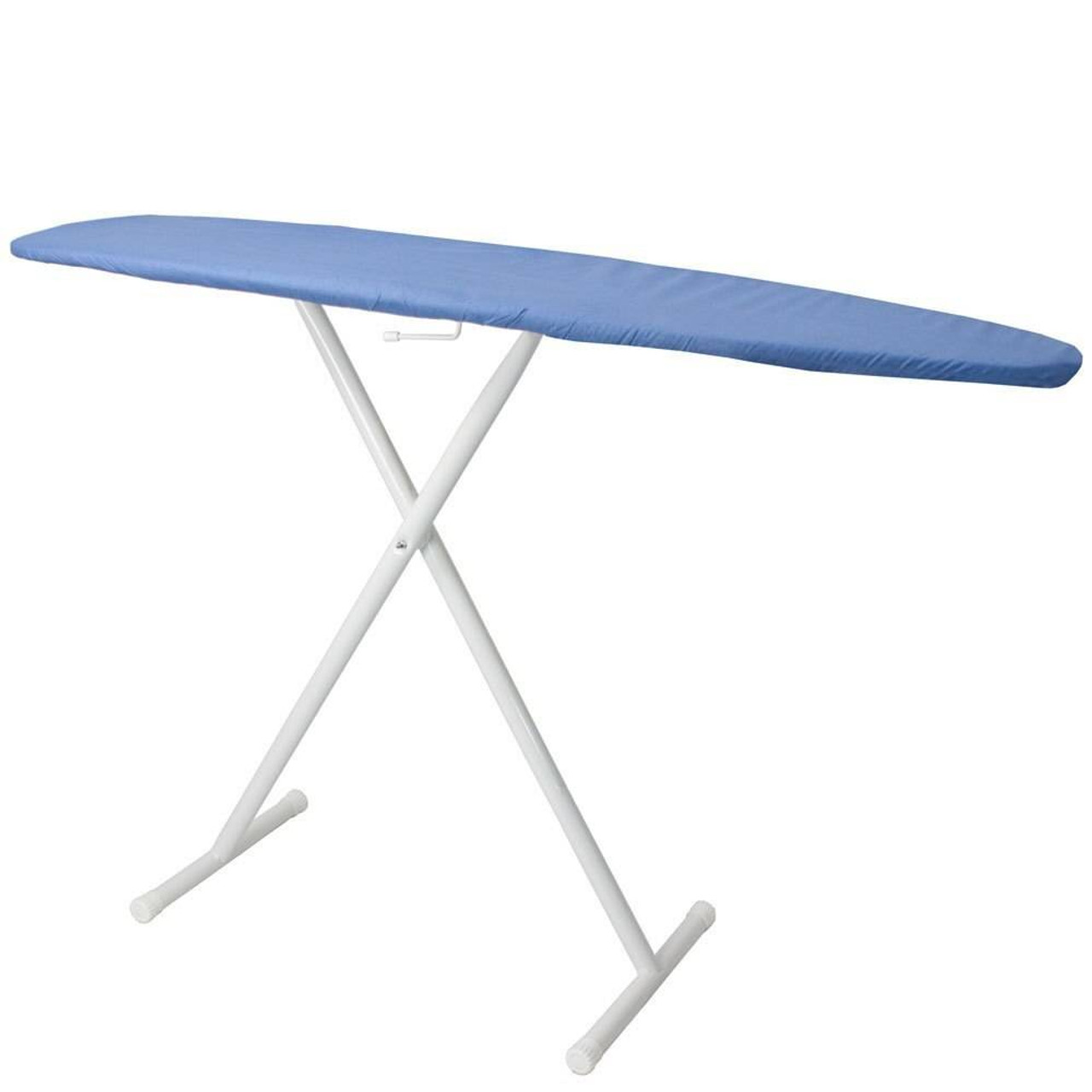 HOSPITALITY 1 SOURCE HOSPITALITY 1 SOURCE or BASIC IRONING BOARD or BLUE COVER or 53LX13W or POWDER COAT WHITE LEGS FINISH or 4 PER CASE