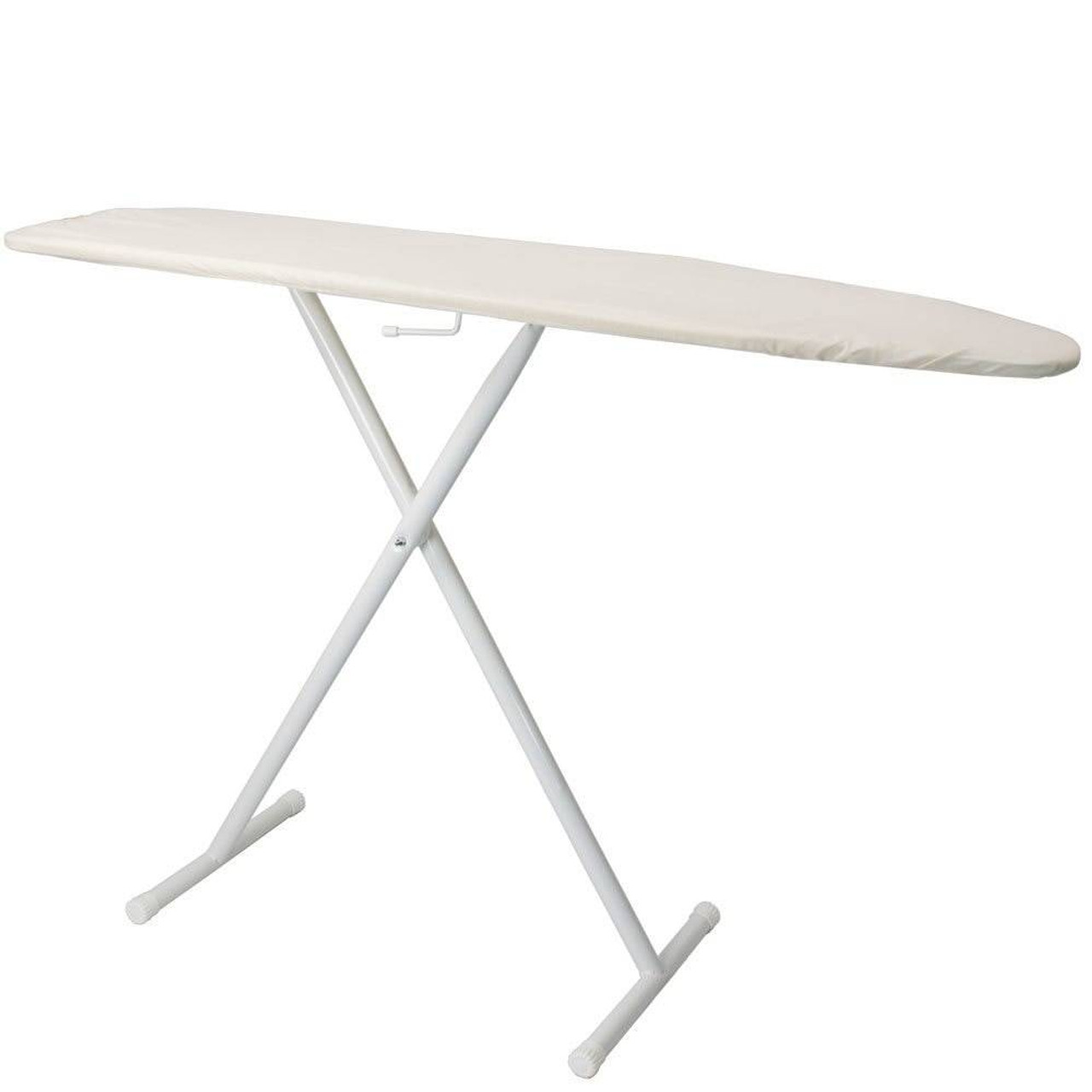 HOSPITALITY 1 SOURCE HOSPITALITY 1 SOURCE or BASIC IRONING BOARD or LIGHT KHAKI COVER or 53LX13W or POWDER COAT WHITE LEGS FINISH or 4 PER CASE