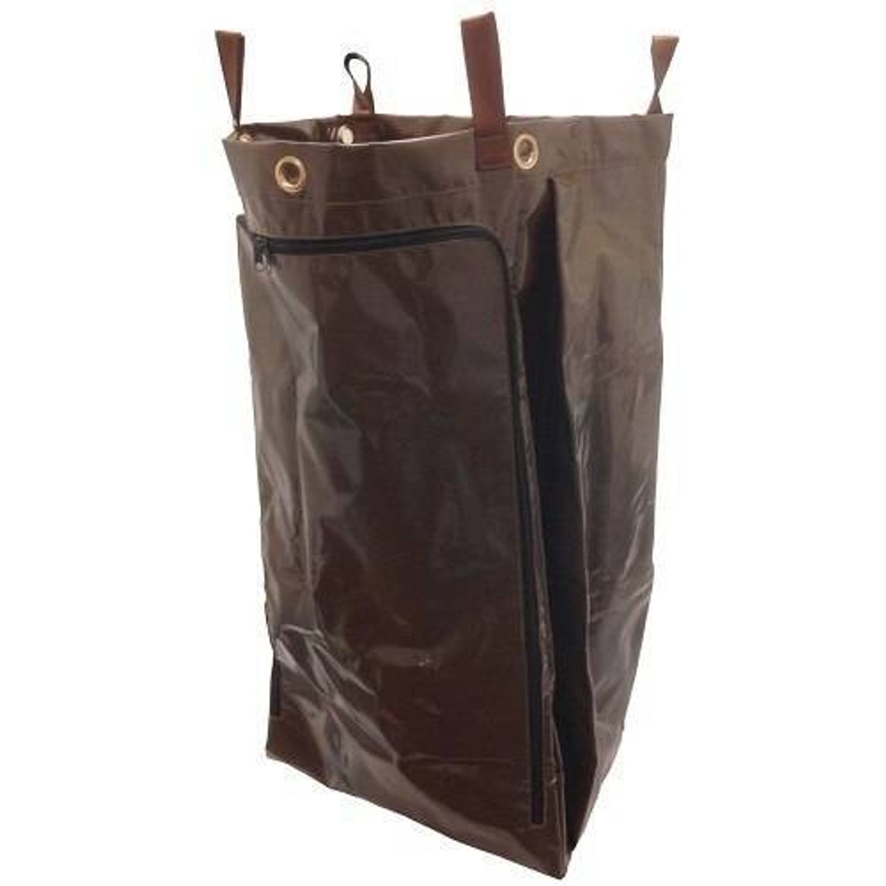 HOSPITALITY 1 SOURCE HOSPITALITY 1 SOURCE or X DUTY PVC LAUNDRY BAG or ZIPPER or LARGE or 18X30X12 or BROWN or 5 PER CASE
