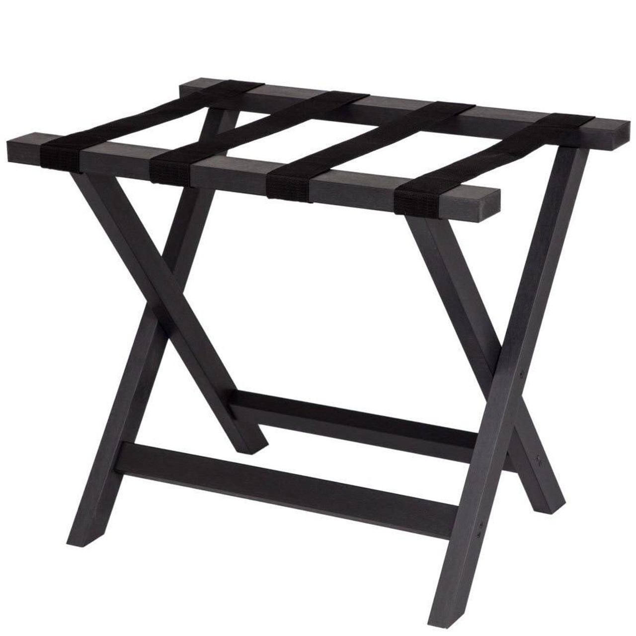 HOSPITALITY 1 SOURCE HOSPITALITY 1 SOURCE or COMPOSITE LUGGAGE RACK or BLACK STRAPS or BLACK FINISH or 2 PER CASE