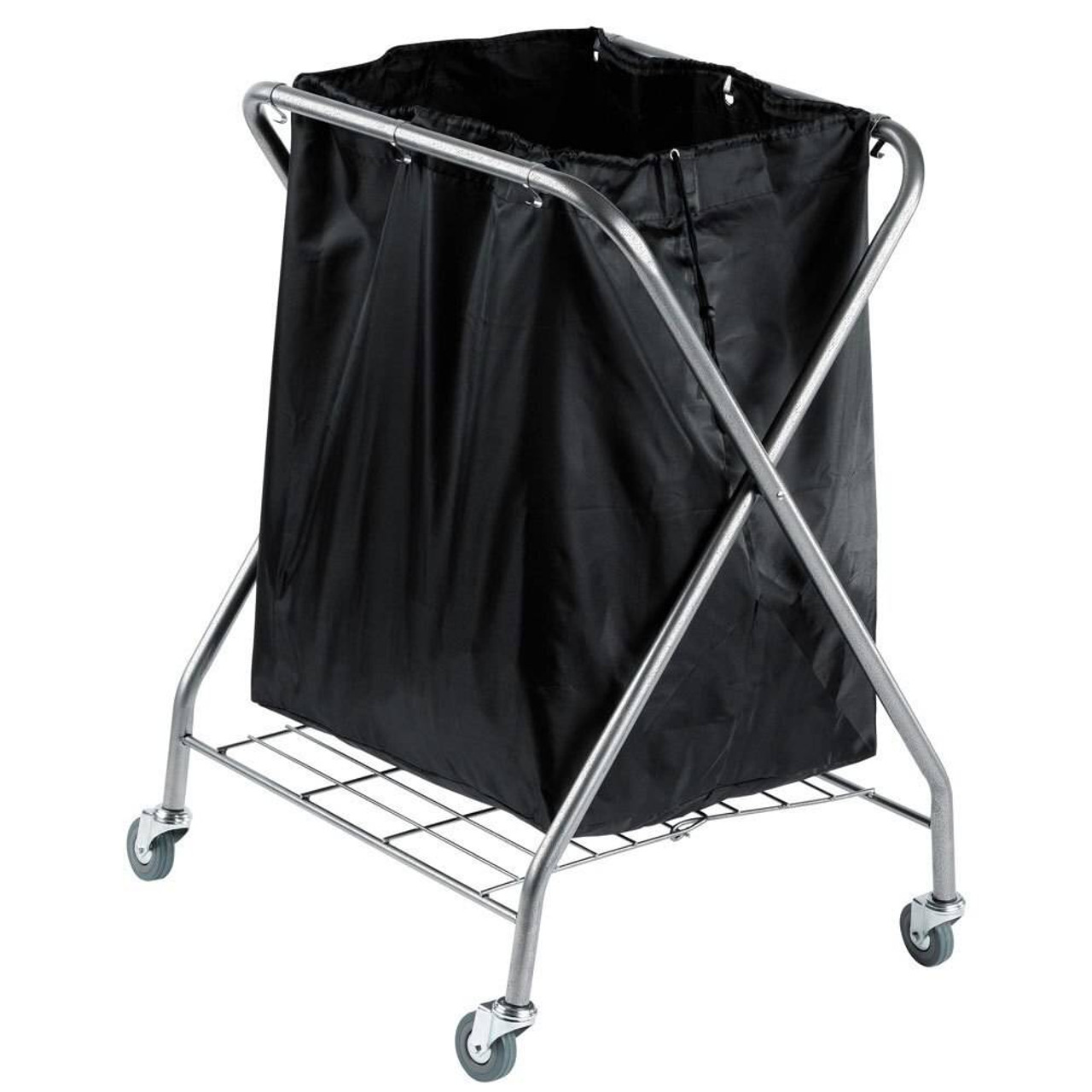 HOSPITALITY 1 SOURCE HOSPITALITY 1 SOURCE or X DUTY POWDER COAT LAUNDRY HAMPER or PLATFORM and BLACK BAG or 1 PER CASE