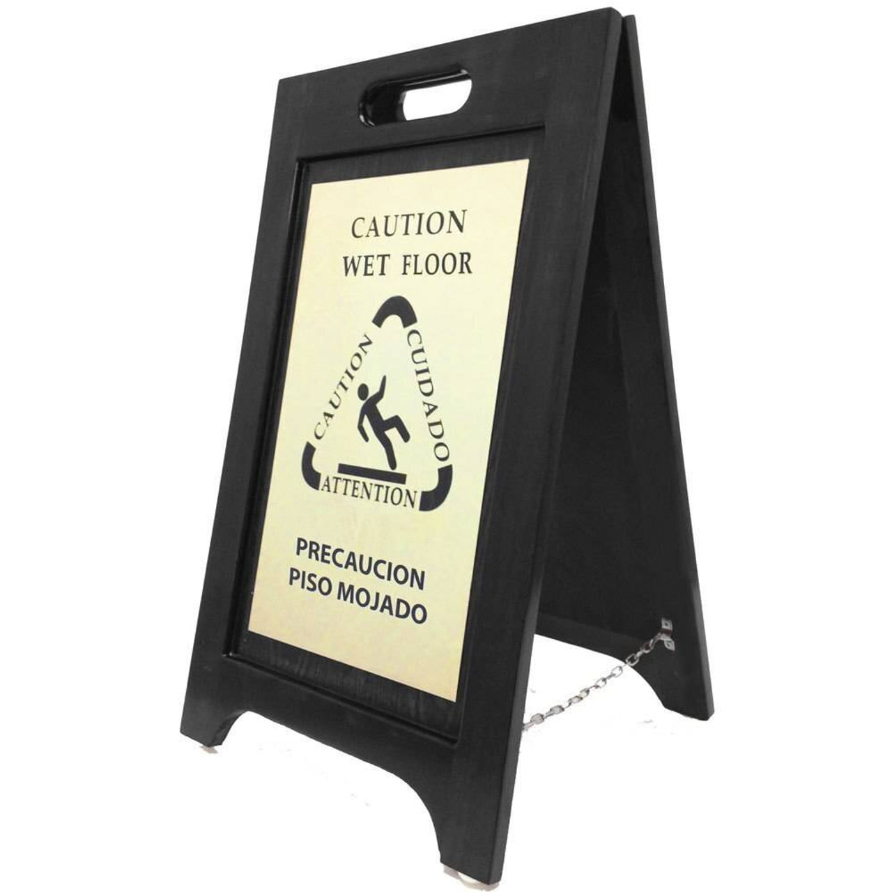 HOSPITALITY 1 SOURCE HOSPITALITY 1 SOURCE or WET FLOOR SIGN BRASS or BLACK FINISH or 2 PER CASE